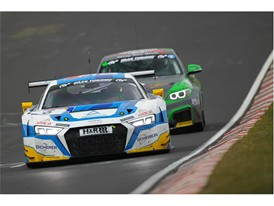The Phoenix Audi leads at the Nurburgring