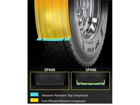 Dunlop SP446 Dual Layer Tread High Mileage and Fuel Efficiency