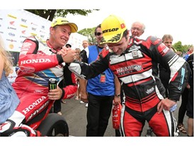 Respect between the two modern day Isle of Man TT Legends, John McGuinness and Michael Dunlop