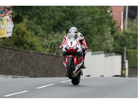 John McGuinness charges to his 46th Isle of Man TT Podium