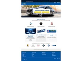 Goodyear New Web Platform: Homepage