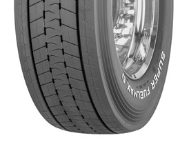 Goodyear SUPER FUELMAX D drive tire in size 315/70R22.5