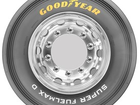 Goodyear SUPER FUELMAX D sidewall drive tire in size 315/70R22.5
