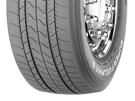 Goodyear SUPER FUELMAX S steer tire in size 385/55R22.5