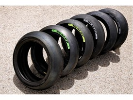 The full Moto 2 rear tyre range.