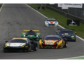 Spirit of Race Ferrari 488 and JMW Motorsport Ferrari 458