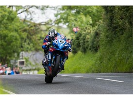Michael Dunlop on his way to his 2017 Senior TT win