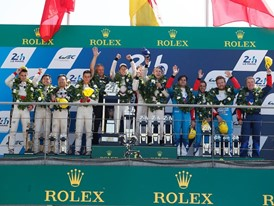 Double Dunlop Le Mans overall podium