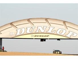#98 Aston Martin Vantage under the iconic Dunlop bridge