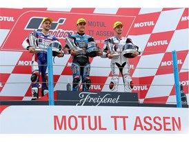 Moto3 racer John McPhee took a second podium of the year, with third place in Assen