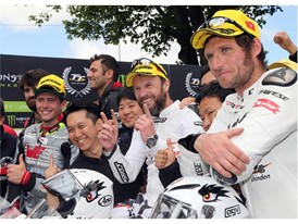 Dunlop riders secure a TT Zero lock out with Bruce Anstey, Guy Martin and Daley Mathison