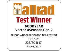 Auto Bild allrad Goodyear_Vector4Seasons_test label