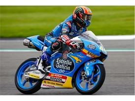 Aron Canet's great fightback from P16 earnt him his third Moto3 win of 2017