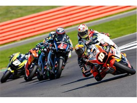 The Moto2 race saw close racing throughout the field