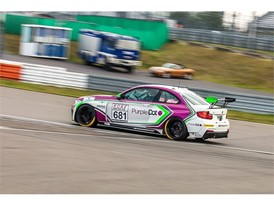 The Walkenhorst Motorsport-run Purple Dot BMW 235i that James will drive on his racing return