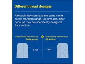 Different tread designs