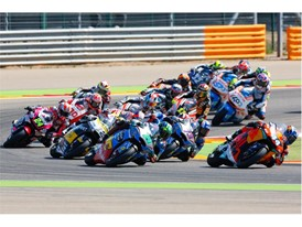 Moto2 race action