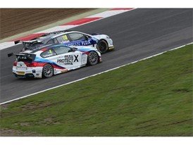 Colin Turkington battling with Ash Sutton