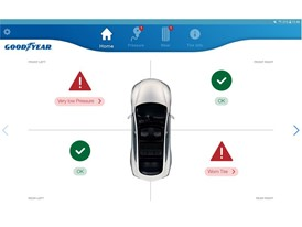 Goodyear Intelligent Tire_mobile app_Home screen