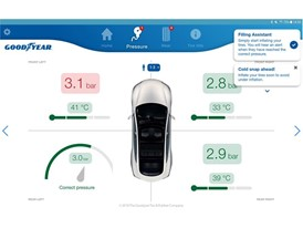 Goodyear Intelligent Tire_mobile app_Pressure screen