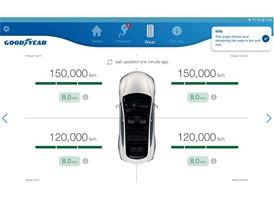 Goodyear Intelligent Tire_mobile app_Wear screen