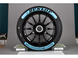 Dunlop's BluResponse 'Wet' tyre features bright blue sidewall for easy identification