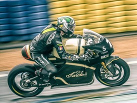 Dean Harrison rides the Dunlop equipped Sarolea SP7 for its Le Mans debut