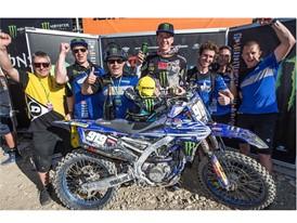 Dunlop's Eddy Seel celebrated Kemea Yamaha podium