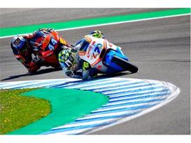 Lorenzo Baldassarri set a new pole and race record in Moto2 in Spain