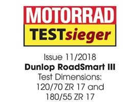 Dunlop RoadSmart III Test Winner