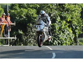 Josh Brookes aboard the Norton, the fastest British bike around the TT course
