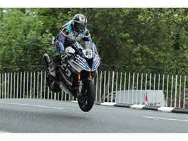 Michael Dunlop set a record race time in the RST Superbike race