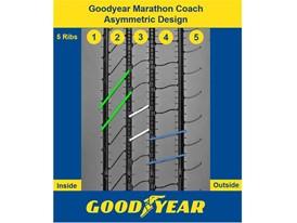 Goodyear Marathon Coach Asymmetric Design with five ribs