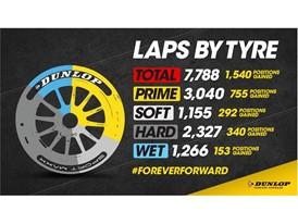 Dunlop Sport Maxx BTCC Tyres laps by tyre