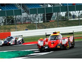 Racing Engineering Oreca on newly surfaced Silverstone track