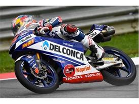 Fabio Di Giannantonio took Moto3 victory by 0.1sec in Brno