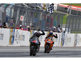 Bagnaia and Oliveira have battled for Moto2 honours