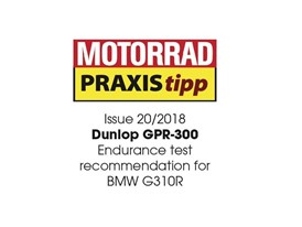 Motorrad Test win for Dunlop GPR-300