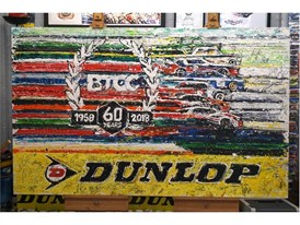 The specially commissioned BTCC Diamond Jubilee original artwork auctioned by Dunlop for Macmillan