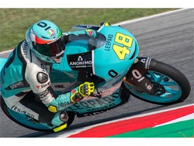 Lorenzo Dalla Porta took a first Moto3 win in Misano