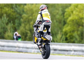 Thomas Luthi winner at Silverstone last year, collected his 46th Moto2 podium, and won in Brno