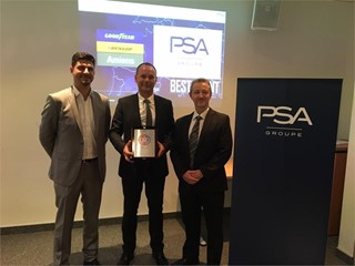 "PSA Groupe presents Goodyear Amiens South manufacturing site with ""PSA Best Plant 2017 Award"""