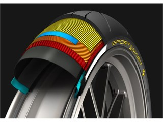 Dunlop SportSmart TT Front construction