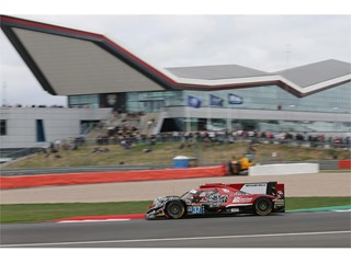 #37 Jackie Chan DC Racing Oreca passes the Silverstone Wing