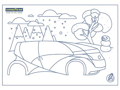 Goodyear challenges kids to draw the best tire of the future for enjoying winter