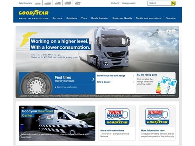 New Truck Tire Website from Goodyear Across EMEA