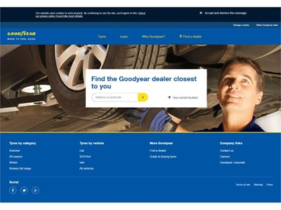 Goodyear launches its next-generation web platform to generate high quality leads for tire dealers