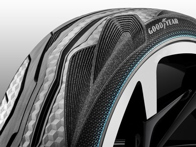 Goodyear presents CityCube, a unique concept tire for the Toyota i-TRIL concept car