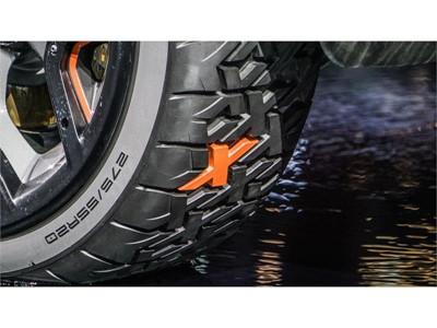 L'anticipazione della Land Rover Discovery SVX  equipaggiata con i pneumatici concept Goodyear