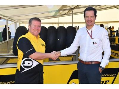 Xavier Fraipont ( Dunlop ) and Pau Serracanta ( MotoGP )
